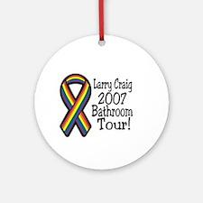 Larry Craig Bathroom tour Ornament (Round)