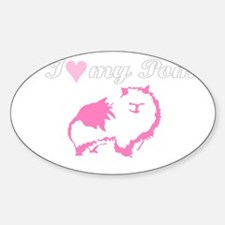 Pom Love Oval Decal