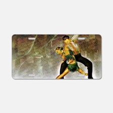 Cute Cha cha dancing Aluminum License Plate