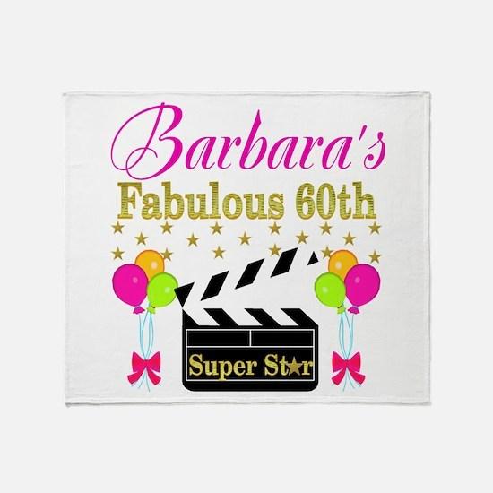 STYLISH 60TH Throw Blanket