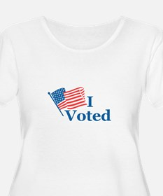 I Voted Plus Size T-Shirt