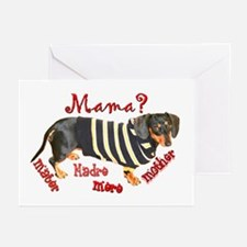 Momma's Day Dachshunds Greeting Cards (Pk of 10)
