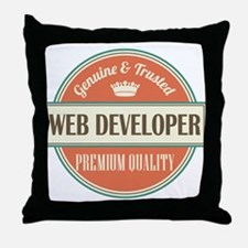 web developer vintage logo Throw Pillow