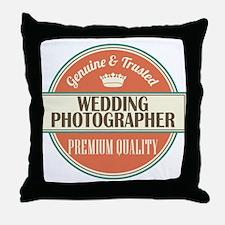 wedding photographer vintage logo Throw Pillow