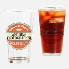 wedding photographer vintage logo Drinking Glass
