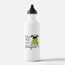 Kiss Me I'm Pugish St. Water Bottle
