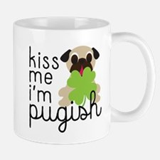 Kiss Me I'm Pugish St. Patrick's Day Mugs