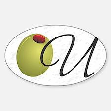 Olive U White Decal