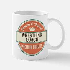 wrestling coach vintage logo Mug