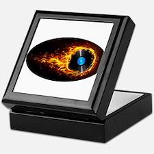 Flaming record ghost Keepsake Box