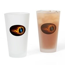 Flaming record ghost Drinking Glass