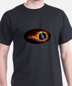 Flaming record ghost T-Shirt