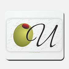 Olive U White Mousepad