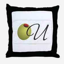 Olive U White Throw Pillow