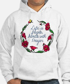 Flower Wreath QUOTE Handle with Hoodie