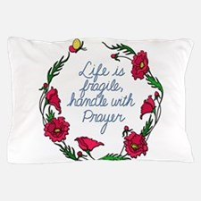 Flower Wreath QUOTE Handle with Prayer Pillow Case