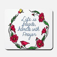Flower Wreath QUOTE Handle with Prayer Mousepad