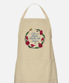 Flower Wreath QUOTE Handle with Prayer Apron