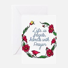 Flower Wreath QUOTE Handle with Pra Greeting Cards