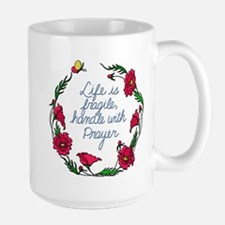 Flower Wreath QUOTE Handle with Prayer Mugs
