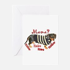 Momma's Day Dachshunds Greeting Cards (Pk of 20)