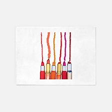 Lipstick colors 5'x7'Area Rug