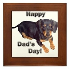 Happy Dad's Day Dachshund Framed Tile