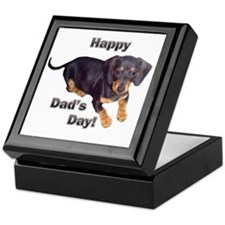 Happy Dad's Day Dachshund Keepsake Box