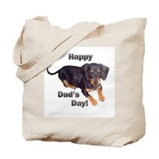 Happy Dad's Day Dachshund Tote Bag