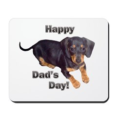 Happy Dad's Day Dachshund Mousepad