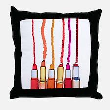 Lipstick colors Throw Pillow