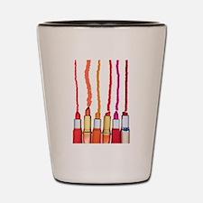 Lipstick colors Shot Glass