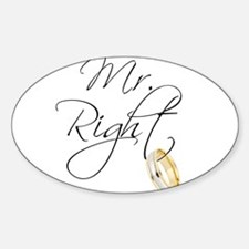Mr. Right Groom Decal