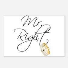 Mr. Right Groom Postcards (Package of 8)
