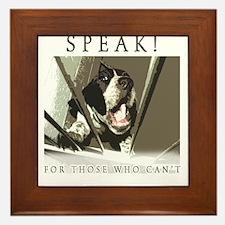 Speak! Regular Framed Tile