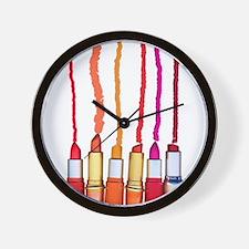 Lipstick colors Wall Clock