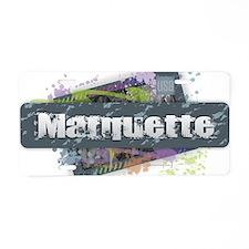 Marquette Design Aluminum License Plate