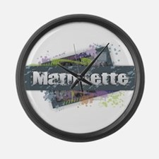Marquette Design Large Wall Clock