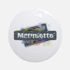 Marquette Design Round Ornament
