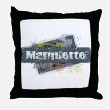 Marquette Design Throw Pillow