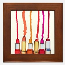 Lipstick colors Framed Tile