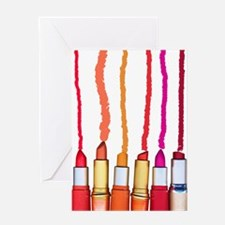 Lipstick colors Greeting Cards