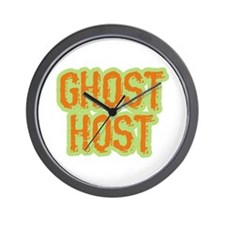 Ghost Host Halloween Costume Wall Clock