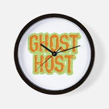 Ghost Host Halloween Costume Wall Clock