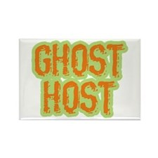 Ghost Host Halloween Costume Rectangle Magnet