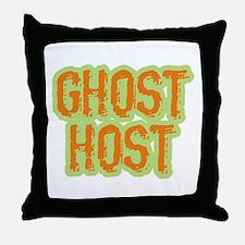Ghost Host Halloween Costume Throw Pillow