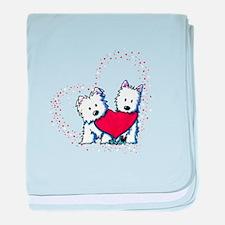 Allstar Westie Love baby blanket