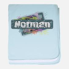 Norman Design baby blanket