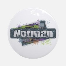 Norman Design Round Ornament