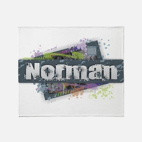 Norman Design Throw Blanket